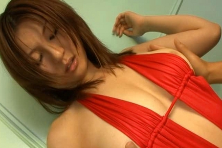 Yui Tatsumi  Asian doll shows cute tits